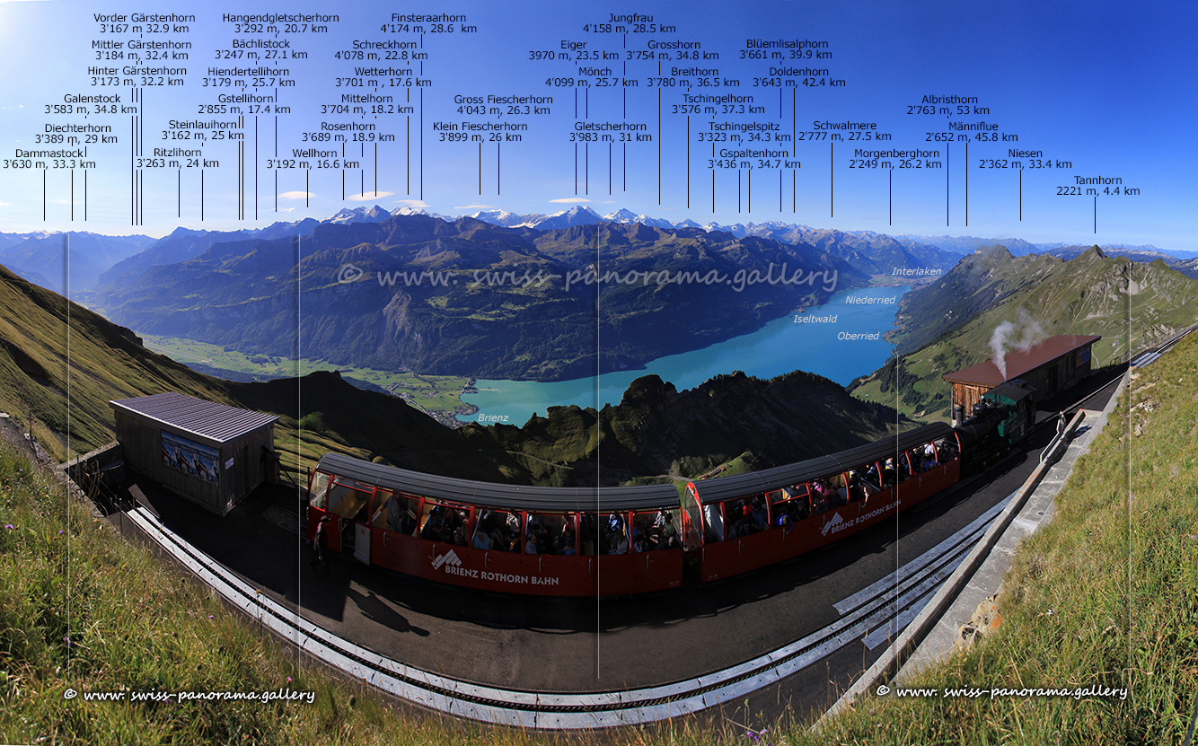 Switzerland panorama Brienzer Rothorn